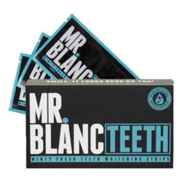 Minty Fresh Teeth Whitening Stripes Zahnbleaching Stripes, MR BLANC